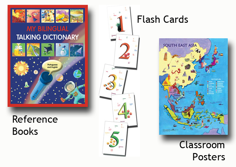 bilingual book poster flash cards