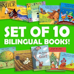 set of 10 bilingual children's books