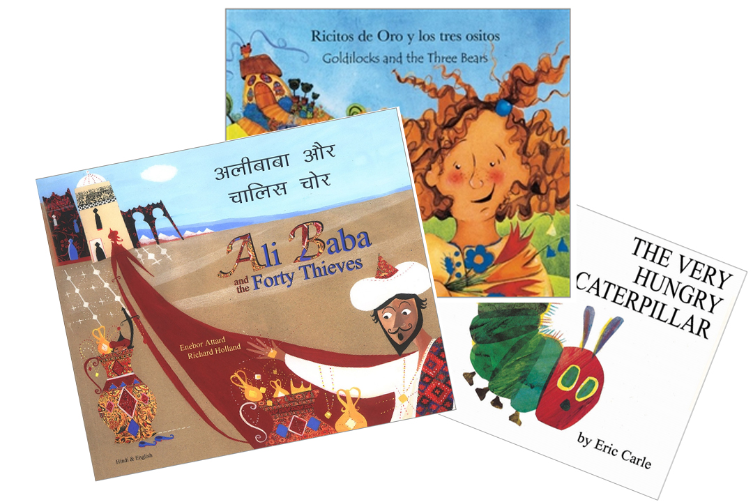 selection of bilingual children's books