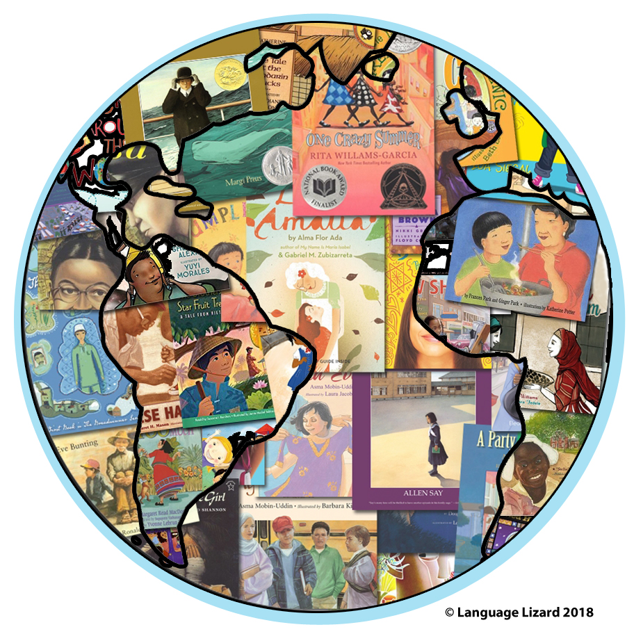 multicultural children's books in outline of earth